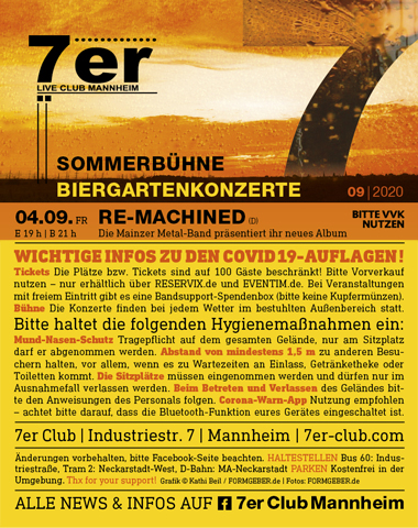 7er Mannheim, Open Air von Re-Machined